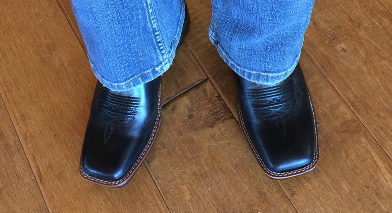 Please excuse the jeans and focus on the boots. Incredibly soft and cushy - like a Merrill or a Clarks or something. Totally unexpected for a cowboy boot. I couldn't believe it!