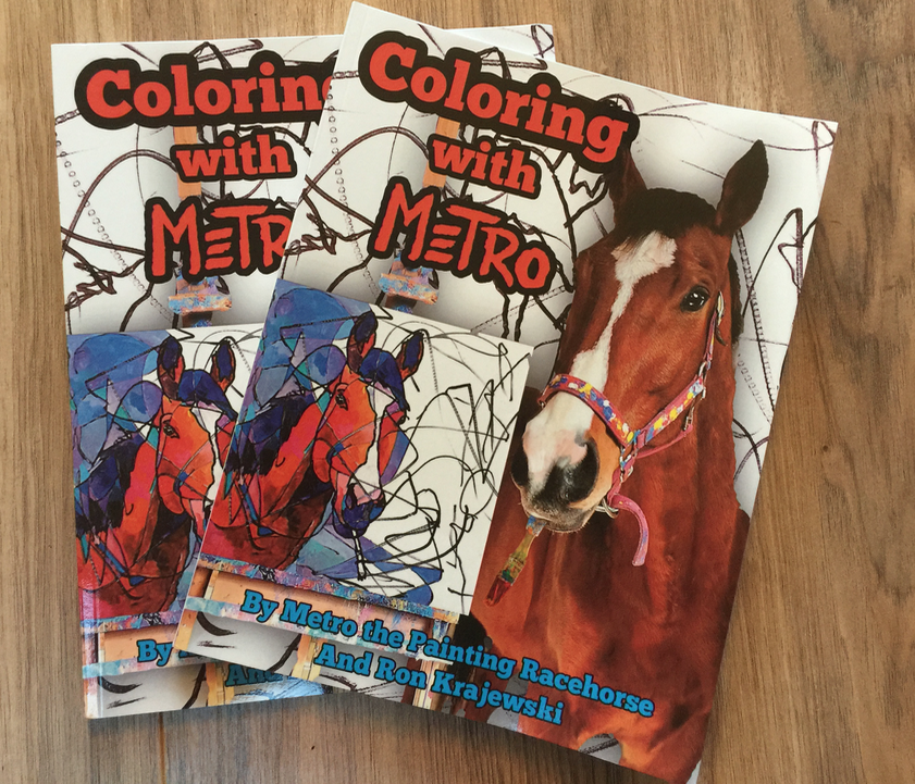 Here are the two coloring books!