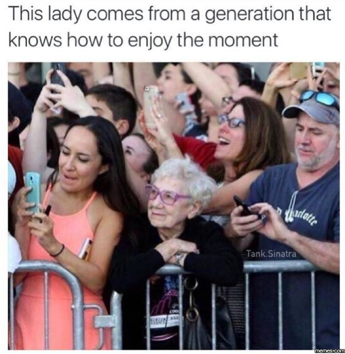 This spoke to me. Yes, I use my phone too much...