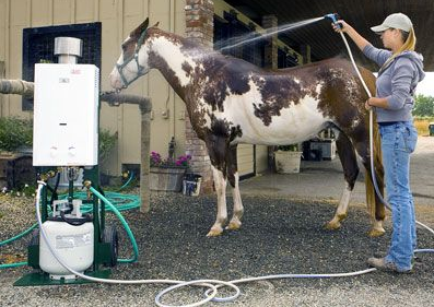 Problem Solved Portable Hot Water To The Horses Or
