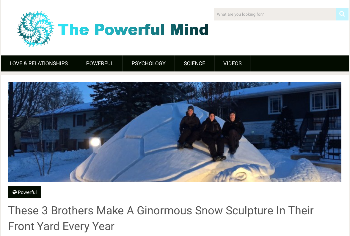 These 3 Brothers Make A Ginormous Snow Sculpture In Their Front Yard Every Year Horse And Man