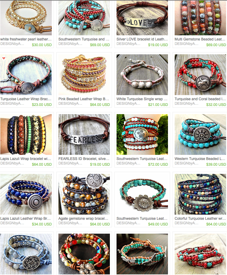 Click to see this person's wrap bracelets!