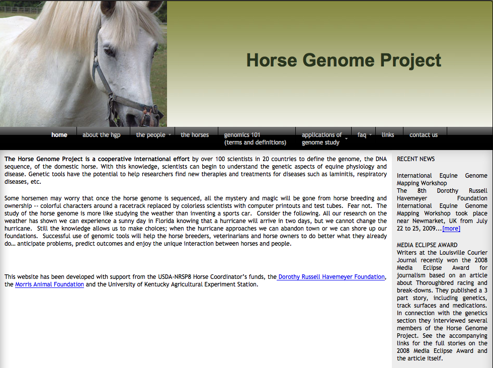 This looked promising...  But upon review, this group did qualify the genome, but not for breed discovery...