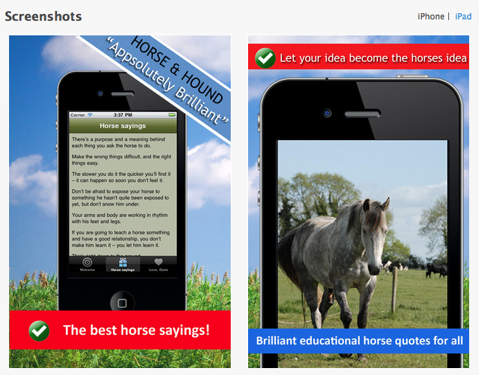 It seems like everyone has a horse saying in their signature nowadays... Click to go to app