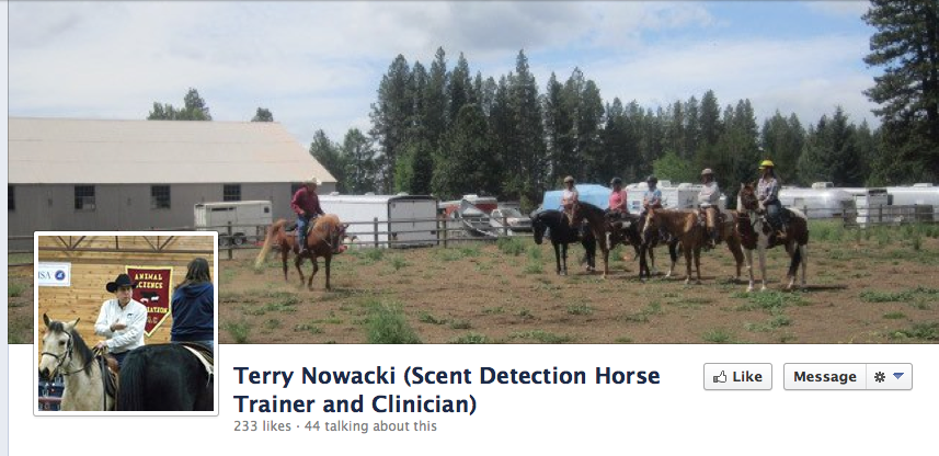 Click to go to Terry's Scent Detection Horse FB page!
