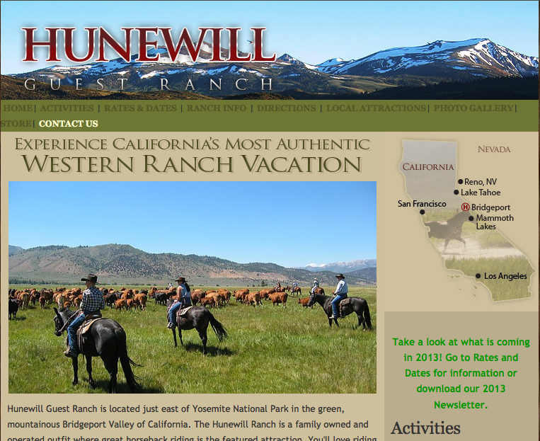 Hunewill Ranch is booked, too.