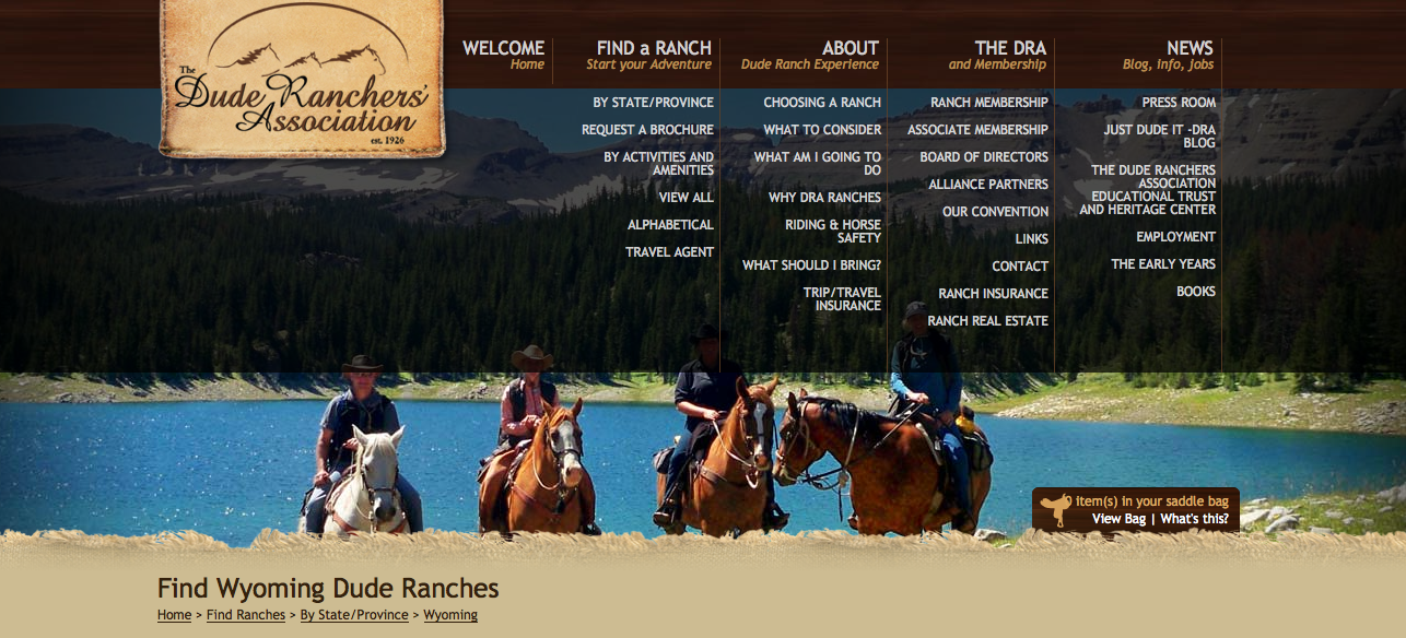 I found the holy grail of Wyoming Dude Ranch listings online.