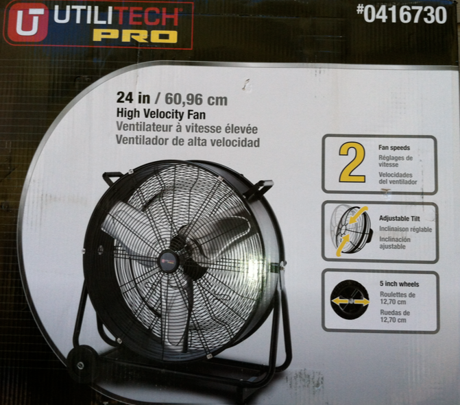 This was the home-use high powered fan we chose from Lowes.