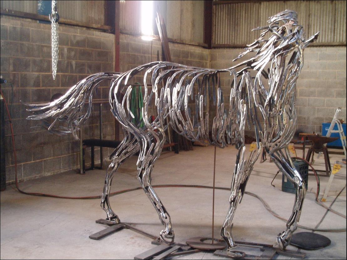 William Wilson Bronze Sculptor And Horseshoe Artist Horse And Man