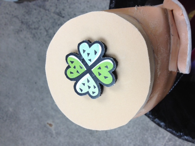 The bottom of her braces have hearts in the shape of a LUCKY 4-leaf clover.  Nice!