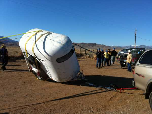 Then he found himself in a trailer accident!